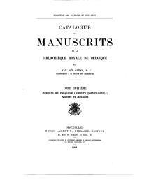 Catalogue des manuscrits de la Bibliothèque royale de Belgique | Van den Gheyn, Joseph Marie Martin (1854-1913) - S.J. Auteur