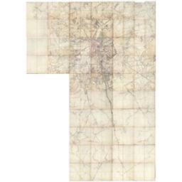 [Carte manuscrite des environs de Bruxelles] Document cartographique   Wautier, Guillaume de (1757-après 1825) - sieur de Beren