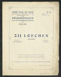 Zij loechen Musique imprimée kunstlied muziek van H. Durieux ; woorden van Albrecht Rodenbach   Durieux, H - (musicus)