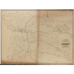 Plan parcellaire de la commune de Grandrieu avec les mutations publié avec l'autorisation du gouvernement sous les auspices de Monsieur le Ministre des Finances par P. C. Popp | Popp, Philippe Christian (1805-1879)