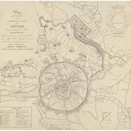 Plan de l'attaque et de la défense de la ville de Louvain, assiégée en 1635, par l'armée gallo-batave forte de 60.000 hommes, et dont les assaillans furent obligés de lever le siège après avoir investi et bombardé la ville pendant onze jours Document cartographique dedié au sérenissime prince Ferdinand, infant d'Espagne, cardinal de Tolède |