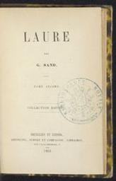 Laure Vol. I Adriani Vol. II La marquise | Sand, George (1804-1876) - p