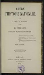 Cours d'histoire nationale | Namèche, Alexandre (1811-1893) - kanunnik. Author