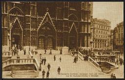 Deutsche Soldaten verlassen nach der Messe die St. Gudulen Kirche in Brüssel postcard  