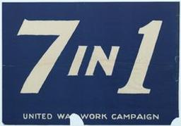 United war work campaign 7 in 1 graphic | Anonyme. Lithographe