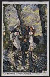 Les anges des derniers moments postcard |