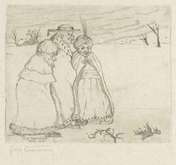 Drie wijzen (Rois mages)   Timmermans, Felix (1886-1947). Graveur