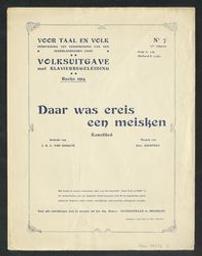 Daar was ereis een meisken Musique imprimée kunstlied muziek van Edw[ard] Keurvels ; gedicht van J. D. C. Van Dokkum | Keurvels, Edward (1853-1916)