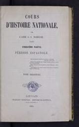 Cours d'histoire nationale | Namèche, Alexandre (1811-1893) - kanunnik. Auteur