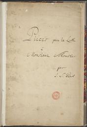 Pièces pour la Luth à Monsieur Schouster par J S Bach f1v: Suite pour la Luthe | Bach, Johann Sebastian (1685-1750) - Compositeur