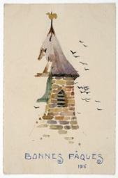Bonnes Pâques 1916 postcard |
