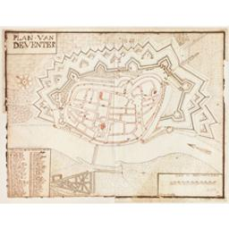 Plan van Deventer Document cartographique fait par Jan Colp 1732 | Colp, Jan (flor. ca 1732)