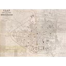 Plan géométrique de la ville de Bruxelles Document cartographique dressé en 1835 par W.B. Craan, ancien ingénieur vérificateur du cadastre de la Province de Brabant ; lithographié et publié par les soins de Ph[ilippe] Vandermaelen fondateur de l'Etablissement géographique de Bruxelles, [gravé par P.J. Doms, et J. Peeters] | Craan, Guillaume-Benjamin (1776-1848)