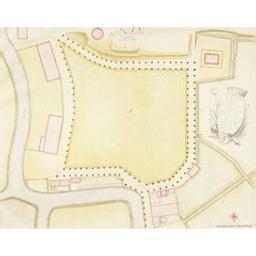 Plan van de gasthuysvelde binnen Breda Cartografisch document P.A.M |