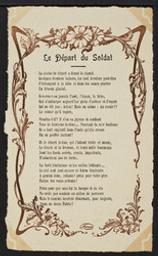 Le Départ du Soldat postcard |