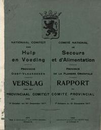 Comité national de secours et d'alimentation Province de la Flandre orientale : Rapport du Comité provincial |