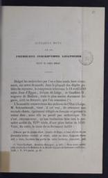 Quelques mots sur les premières inscriptions liégeoises écrites en langue romane par U. Capitaine | Capitaine, Ulysse (1828-1871). Auteur
