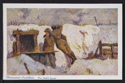 Observateur d'artillerie Postcard  
