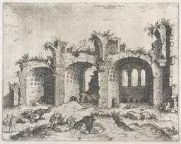 The Basilica of Constantin   Cock, Hieronymus (fl. 1548-1570). Dessinateur-maquettiste