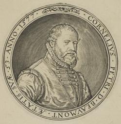 Portrait of Beaumont Cornelis Peetersz. De graphic   Wierix, Johannes (1549-ca 1620). Graveur