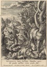 St Hubert graphic   Wierix, Hieronymus (Anvers, 1553 - 1619). Graveur