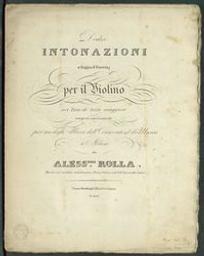 Dodici intonazioni a foggia d'esercizj per il violino nei toni di terza maggiore Alessandro Rolla | Rolla, Alessandro (1757-1841)
