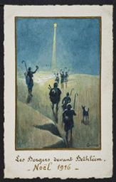 Les Bergers devant Bethléem. Noël 1916 postcard |
