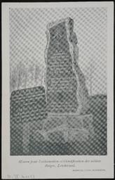 Monument élévé à Londerzeel à la mémoire des soldats du 12e de Ligne tombés sur le champ de bataille de Londerzeel le 29-IX-1914  