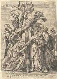 The Descent from the Cross graphic | Wierix, Hieronymus (Anvers, 1553 - 1619). Éditeur intellectuel