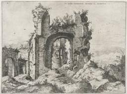 View of the Baths of Caracalla | Cock, Hieronymus (fl. 1548-1570). Dessinateur-maquettiste