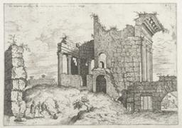 Second View of the Forum of Nerva | Cock, Hieronymus (fl. 1548-1570). Dessinateur-maquettiste