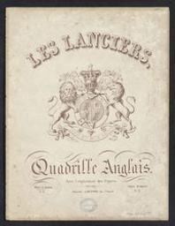 Les Lanciers Musique imprimée = Gedrukte muziek quadrille anglais | Joseph Meynne. Éditeur