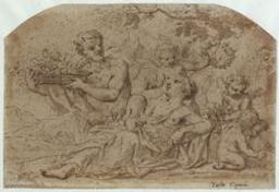Allegorical scene Graphic | Cignani, Carlo (1628-1719). Illustrateur