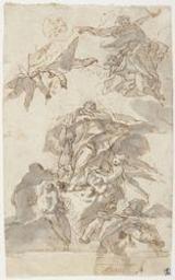 The Assumption of a saint Graphic | Unknown Italian. Illustrateur