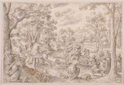 The abduction of Proserpina Graphic   Bol, Hans (Malines, 1534 - Amsterdam, 1593) - peintre, dessinateur et graveur. Illustrateur