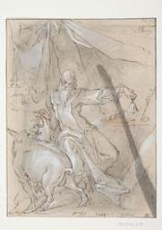 Saint Anthony Graphic | Spranger, Bartholomaeus (1546-1611). Illustrator