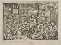 Allemode school gravé par P(ieter) de Baillieu (l'Ancien) ; d'après P(ierre) Breugel | de Baillu, Petrus (fl. 163-?>-). Graveur