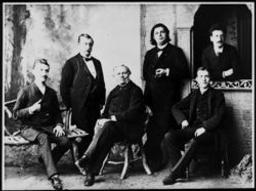 Le Quatuor Ysaÿe entourant César Franck 1890 | Ysaÿe, Eugène (1858-1931) - Violoniste, compositeur et chef d'orchestre. Propriétaire précédent