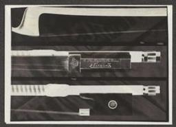 Transparent et photographie en noir-blanc et blanc-noir de l'archet Sartory donné par Eugène Ysaÿe à la Reine Elisabeth en 1927 | Ysaÿe, Eugène (1858-1931) - Violoniste, compositeur et chef d'orchestre. Propriétaire précédent