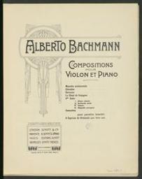 Compositions pour violon et piano   Bachmann, Alberto