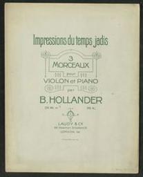 Impressions du temps jadis | Hollander, Benoit (1853-1942)